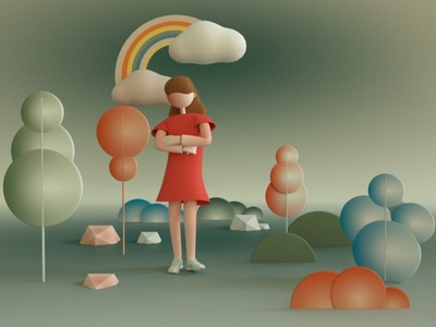 Berta 3d Illustration modern design minimalism colors cinema4d illustraion 3d art 3d gif
