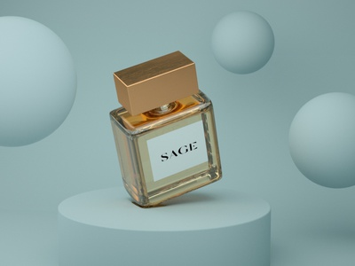 PARFUM 3D illustraion minimalism design cinema4d render 3d modelling