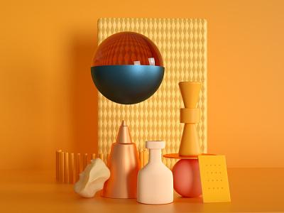 Abstract Illustration cinema4d design modern illustraion minimalistic 3d