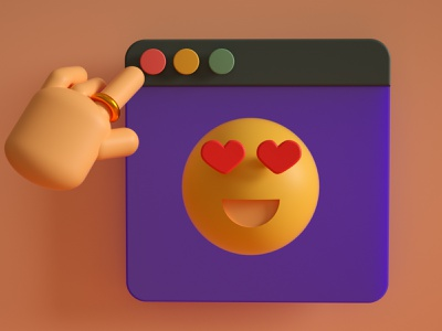 3D Smile illustration illustraion minimalistic design cinema4d 3d
