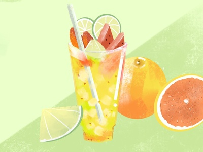life saver🌟summer drink! colorful design illustration