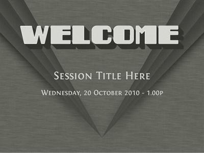 Welcome Slide deco film slides