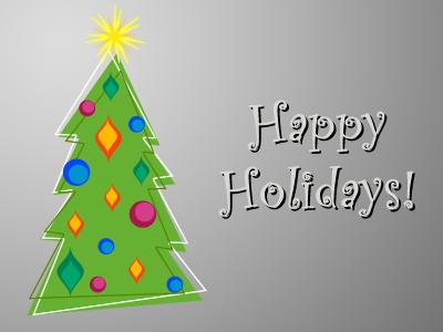 Happy Holidays holiday christmas card