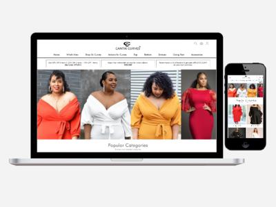 online fashion store mockup web ui ui  ux design online store e commerce