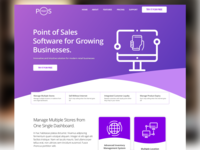 Product page for POS SaaS application