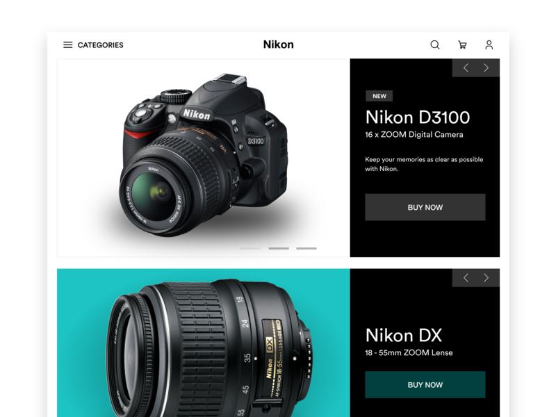 Hero Slider online store ui design web slider design
