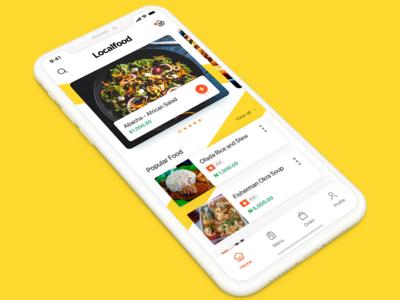 Local Food Ordering Mobile app xd sketch e commerce ui  ux ui food app ui food food app