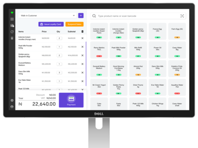 Point of Sale Desktop Application payment form shopping basket product list product page shopping cart cart desktop app e commerce ui payment ui ux uidesign checkout point of sale pos