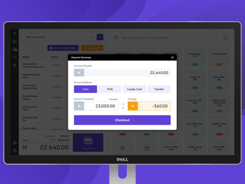 Point of sale desktop application payment window payment e commerce ecommerce product page desktop ui  ux payment page payment form payment method point of sale pos