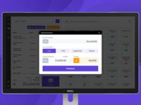Point of sale desktop application payment window