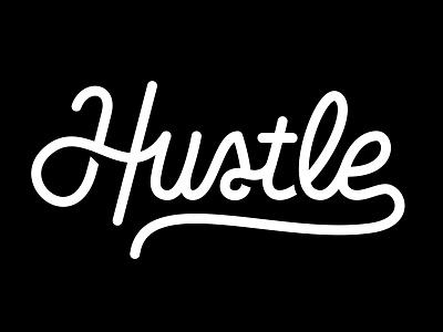 Hustle Logo logo hustle typography justin barber lettering script