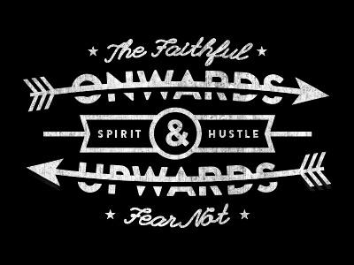 Onwards & Upwards typography justin barber shirt vintage