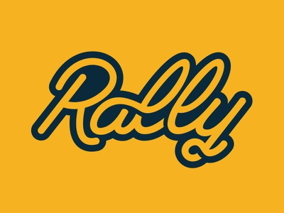 Rally Sports lettering hand type custom sports justin barber
