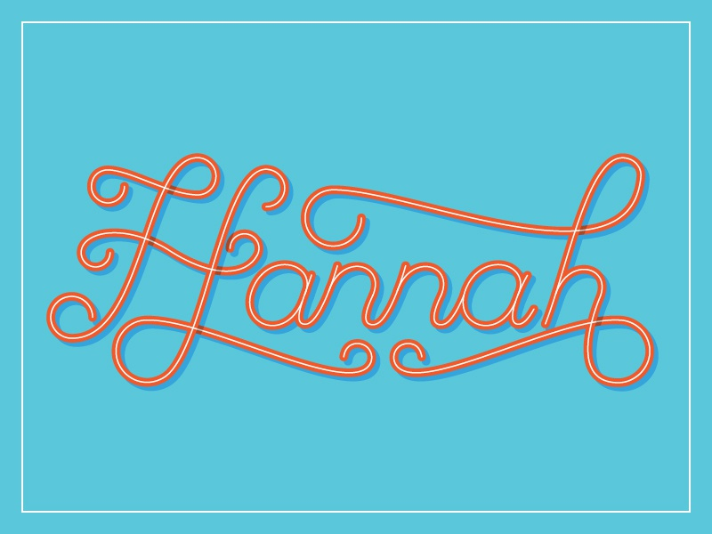 Hannah lettering script typography modest