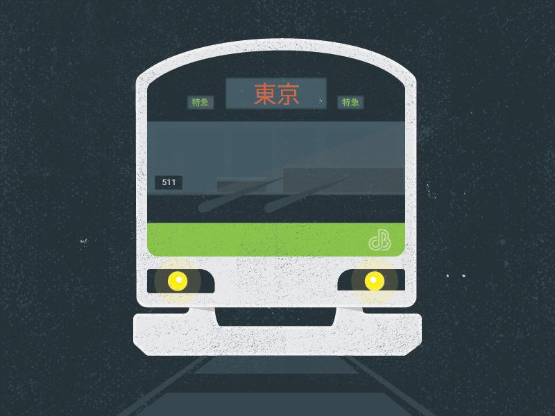 Tokyo Train train justin barber illustration