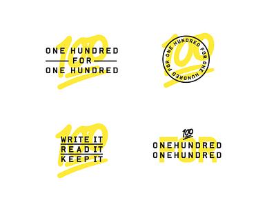 100 for 100 vintage logo badge