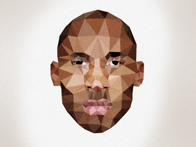 Kobe Bryant design face illustration triangle nba basketball justin barber