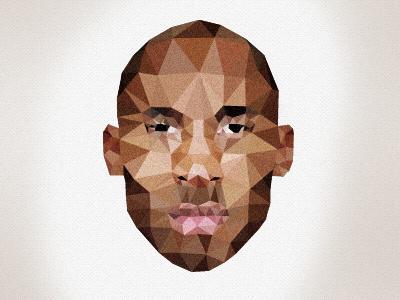 Kobe Bryant design face illustration triangle nba basketball justin barber