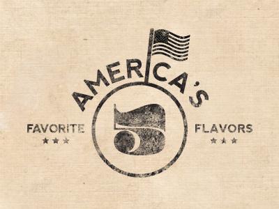 Favorite Flavors design logo america flag justin barber vintage