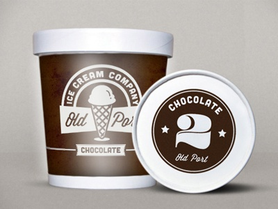 Old Port Packaging vintage logo packaging justin barber ice cream