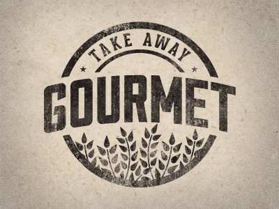 Take Away Gourmet 2.0 design logo badge vintage food justin barber