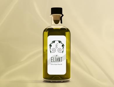 Eliant Brand Identity flat photoshop graphic designer print design elegant design luxury logo olive oil package design illustrator logo identity logo design brand identity adobe illustrator