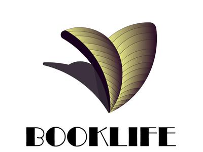 Final logo design for BookLife concept modern logo bookstore logo book logo a day illustrator cc illustration logo bookstore logo identity icon branding vector logo identity flat illustrator icon brand identity design adobe illustrator