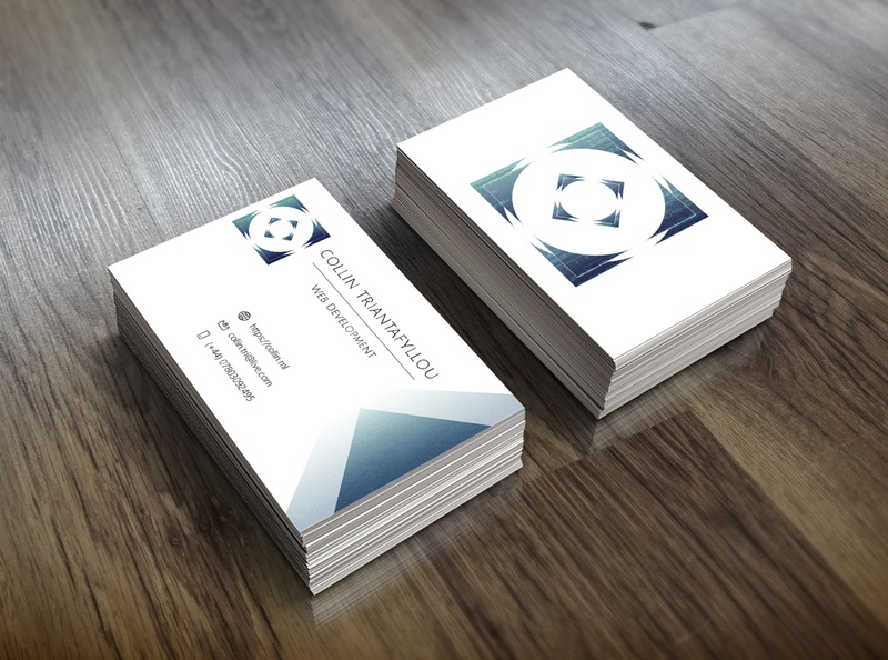 Collin [Business Card - Web Developer] print business card web developer developer logo simple logo minimal logo flat vector branding logo identity design web developer brand identity logo adobe illustrator
