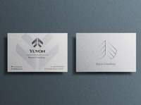 Business card for consulting concept