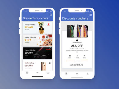 Discounts vouchers ios mobile app ui design art voucher design discounts vouchers