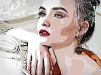 Vector illustration portrait :D