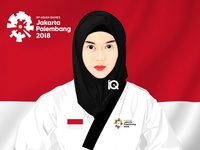 Vector Vexel Art Indonesia athlete Asian Games 2018