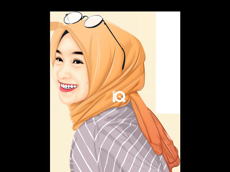 Vexel Art Influencer Instagram @nabilahcil influencer artist hijab vexel illustration