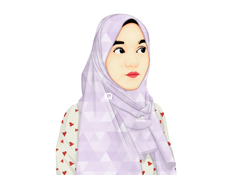 Vexel Art Influencer Instagram girls moeslim influencer hijab artist vector vexel illustration
