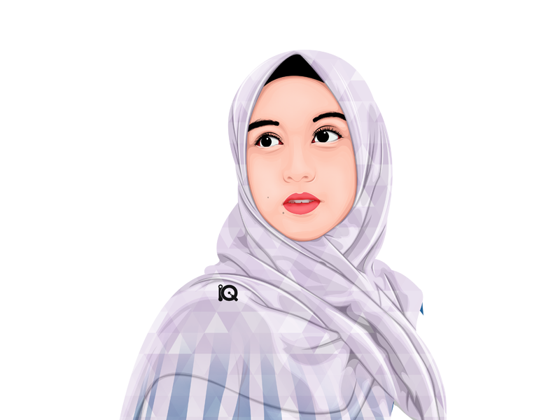 Vexel Art Influencer Instagram moeslim influencer girls hijab artist vector vexel illustration