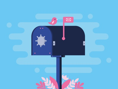 Secure mail made simple uruguay letters bird cute security mailbox mail illustration
