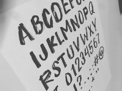 Loaded Brush brush type typeface hand drawn lettering font