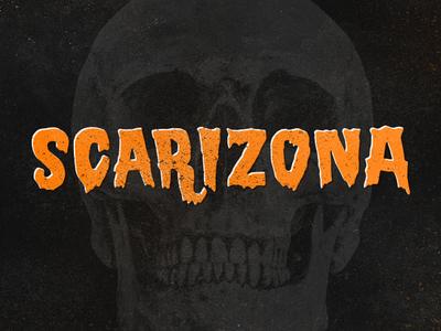 Scarizona lettering hand drawn type typography illustration skull arizona scare
