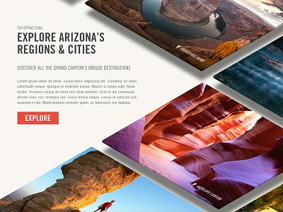 Top Attractions | Arizona web design interactive concept rejected