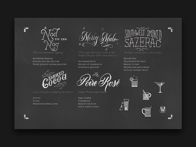 Drink Menu typeface typography lettering hand lettering