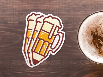 Drink-N-Draw Sticker sticker mule sticker icon pencil beer drink-n-draw