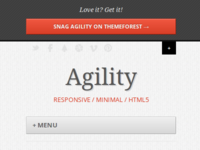 Agility - Responsive Wordpress Theme