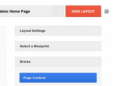 BrickLayer - Visual Layout Builder User Interface wordpress layout interface ui ajax layout builder responsive drag and drop