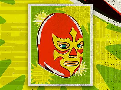 Lucky Lucha sticker luchador