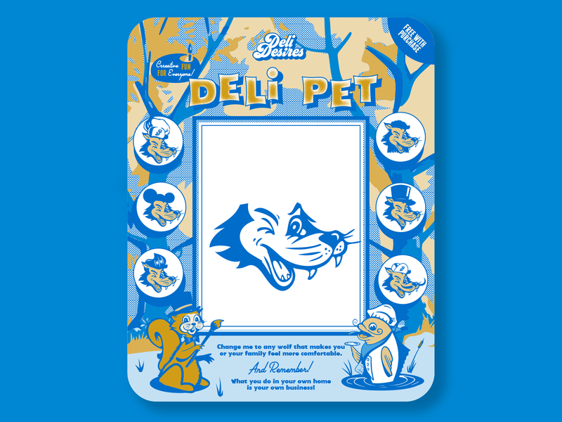 Draw your own Deli Pet desire deli illustration florida orlando