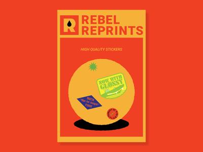Rebel Reprints Postcard