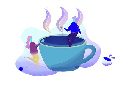 Flat Illustration - Coffee design ux illustration flatdesign flat
