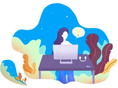 Persona - Workspace illustration flat design