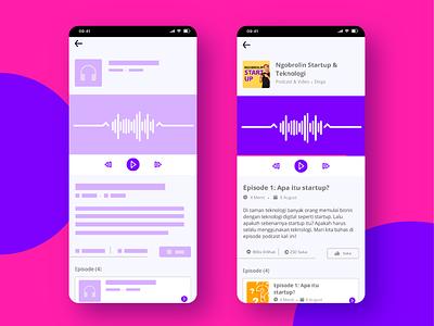 Podcast icon app app vector ui illustrator design