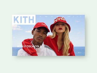 KITH by WIBY Studio john elliott coca-cola kith web design web ux design ux ui design ui transition shop motion minimal lookbook interaction inspiration design clean brand
